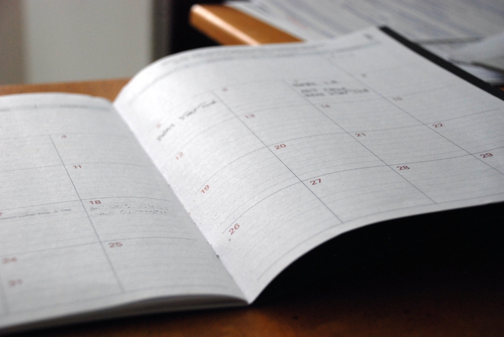 keep your home clean by keeping a schedule